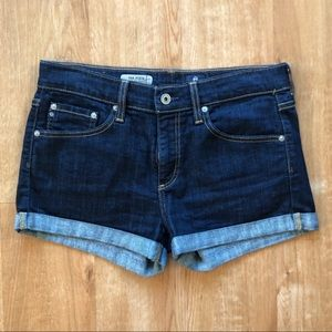 AG Adriano Goldshmied Pixie rolled hem shorts 28